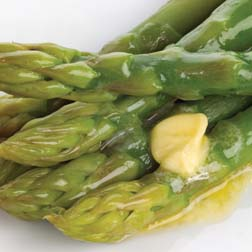 Asparagus & melted butter.