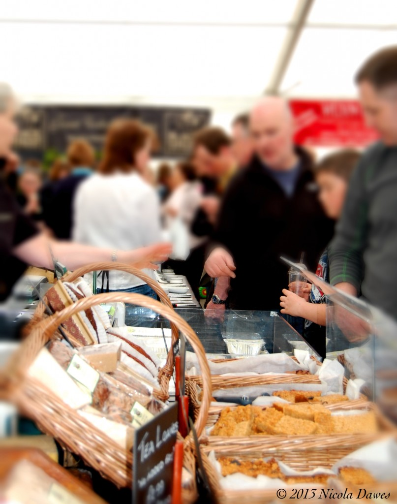sharingourfoodadventures.com Leyburn Food Festival - A very busy food tent