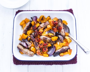 sharingourfoodadventures.com Sweet Chilli Sausage Bake Recipe (courtesy of Katie bryson)