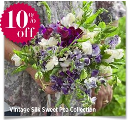 sharingourfoodadventures.om Vintage Silk Sweet Pea Collection Sarah Raven