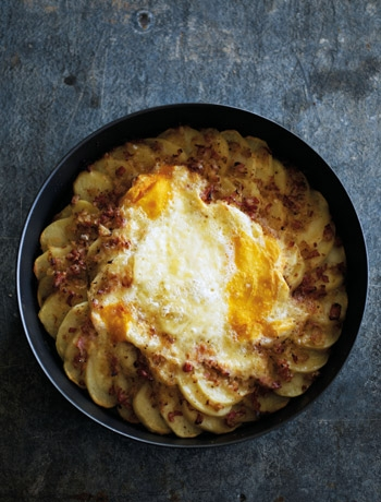 Tartiflette - comforting and rich.