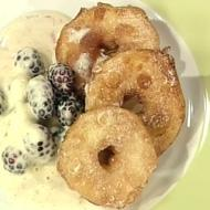 Apple Fritters with Blackberries Recipe