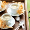 Jerusalem Artichoke Soup with Parsnip Crisps - courtesy Delicious