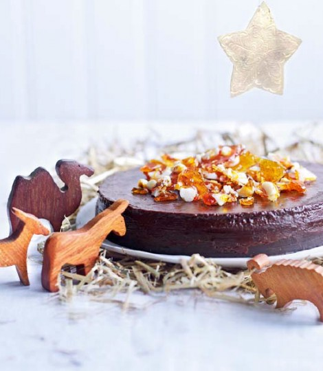 Chocolate, Coffee & Marsala Torte with Macadamia Brittle - courtesy of Delicious.