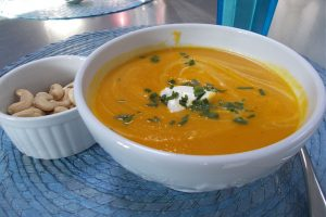 Roasted Sweet Potato & Carrot Soup Recipe