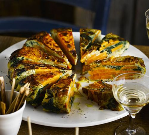 Spinach & Sweet Potato Tortilla Recipe - courtesy Barney Desmazery for Good Food