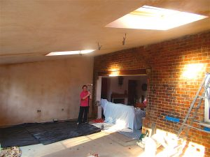 Bay window removed - lounge exposed - November 2015