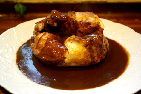 My Yorkshire Puddings with gravy