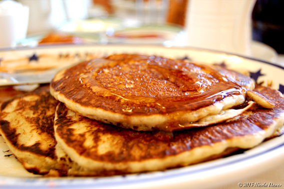 sharingourfoodadventures.com Pancakes galore with our Full American Breakfast