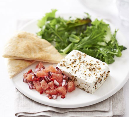 sharingourfoodadventures.com Fabulous Spiced Feta with Watermelon Salad (Courtesy of BBC Good Food magazine)