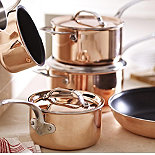 Copper Tri-Ply pans from Lakeland