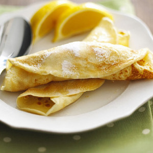 Pancakes with Lemon & Sugar