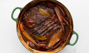 Brisket Braised in Red Wine - courtesy of Bon Appetit