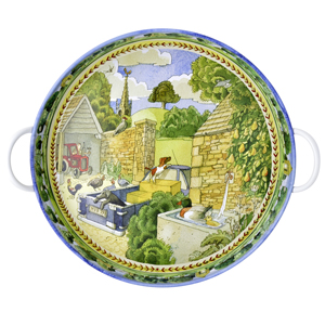 Chicken Landscape Steel Tray - Matthew Rice (From Emma Bridgewater)