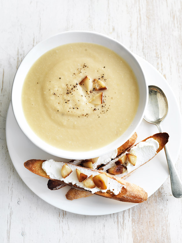 Roasted Parsnip & Garlic Soup Recipe - courtesy of Donna Hay.