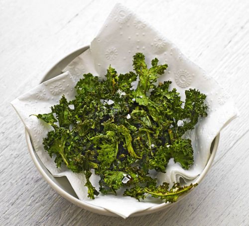 Spiced Kale Crisps Recipe - courtesy Emily Kidd for Good Food