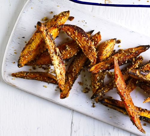 Dukkah-crusted Squash Wedges recipe - courtesy of Katy Gilhooly for Good Food