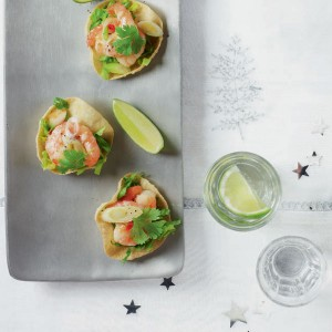 Mini Prawn Poppadoms - courtesy Delicious