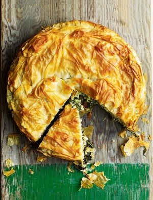 Wild Garlic & Goat's Cheese Pie recipe - Courtesy Delicious Magazine